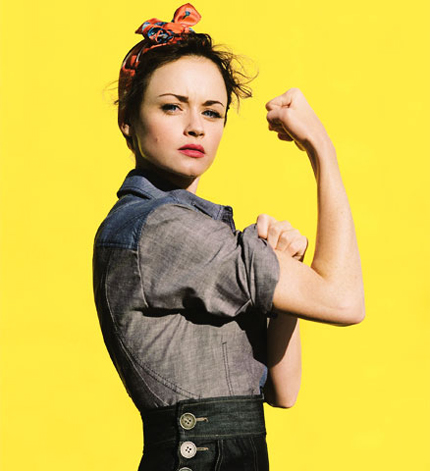 Alexis Bledel as Rosie the Riveter - Source: Glamour.com