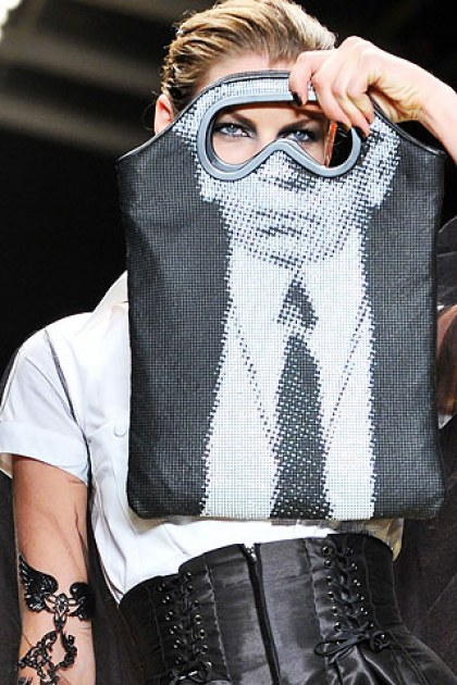 Model as Karl Lagerfeld, Spring 2009 - Source: The Fashion Spot
