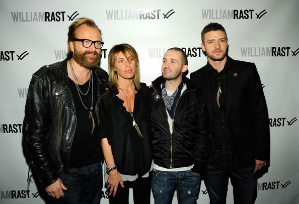(L-R) Johan Lindeberg, Marcelle Lindeberg, Trace Ayala & Justin Timberlake - Source: Zimbio